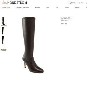 NWT NEW Cole Haan Air Jolie Boots Dark Brown 5.5